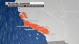 Strong winds bring elevated fire danger, risk of power outages to parts of California