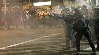 Rioters try breaking down door of Portland Police Association