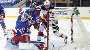 Hughes has 3 points in 2nd period as Devils beat Rangers 4-3