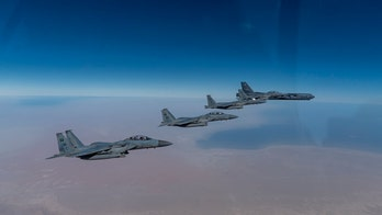 US strategic bombers fly over Persian Gulf, first show of force under Biden