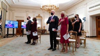 Hunter Biden, under federal investigation, appears at White House prayer service