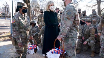 Jill Biden brings cookies to troops, thanks National Guard for 'keeping my family safe' during inauguration