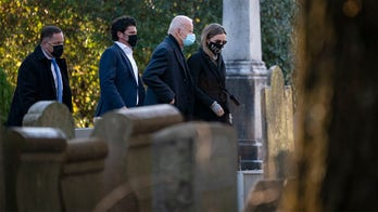 Lone man seen kneeling at Beau Biden's grave during inauguration