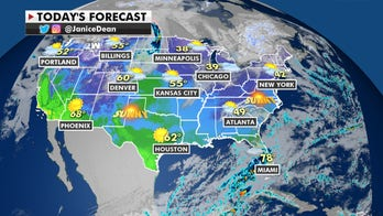 Rain, mountain snow across the Northwest, mild temperatures across the Plains and Midwest