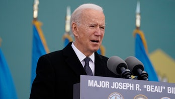 Emotional Biden bids farewell to home state of Delaware