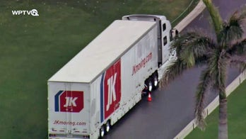 Moving trucks spotted at Trump's Mar-a-Lago resort as he prepares to depart Washington