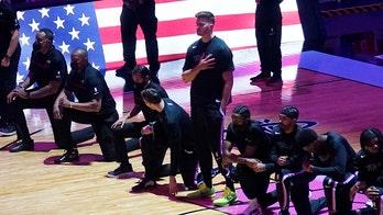 Heat's Meyers Leonard stands for national anthem while teammates, Celtics players kneel