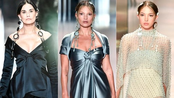 Fendi show sees Demi Moore, Kate Moss and Moss' daughter Lila walk the runway at Paris Fashion Week