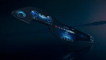 Mercedes-Benz unveils giant Hyperscreen display for electric EQS sedan