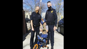 Texas detective presents boy with new bicycle after his was destroyed by 'offender'