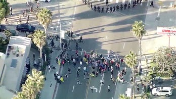 San Diego police declare 'unlawful assembly' as Trump supporters, counter-protesters face off