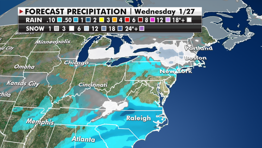 Winter storm system bringing rain, snow, strong winds from Plains to the Northeast