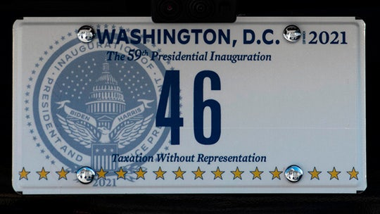 Biden's new presidential license plates make subtle call for DC statehood