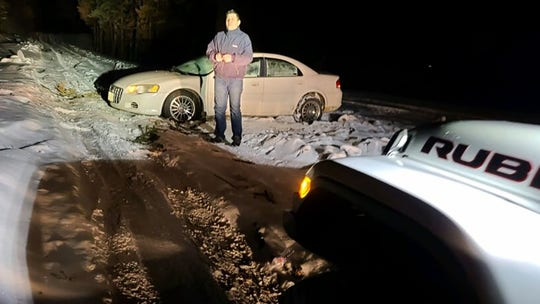California couple rescued after GPS leads them through snow-covered mountain road