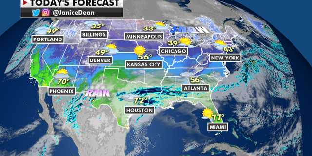 The national forecast for Thursday, Jan. 21. (Fox News)