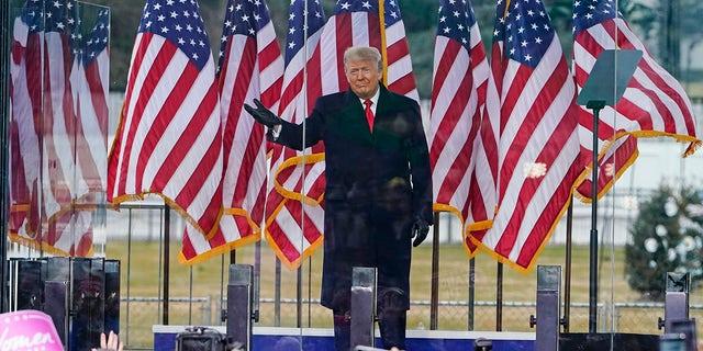 President Trump arrives to speak at a rally Wednesday, Jan. 6, 2021, in Washington. (AP Photo/Jacquelyn Martin)