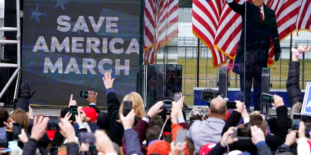 In this Jan. 6, photo, President Donald Trump arrives to speak at a rally in Washington. Although pro-democracy and human rights activists around the globe were stunned to see a raging mob storm the U.S. Capitol, they say they were heartened and inspired because the system ultimately prevailed. (AP Photo/Jacquelyn Martin, File)