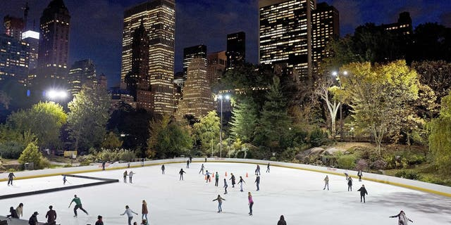 Skaters take to the ice at Wollman Rink in New York's Central Park, Nov. 3, 2016. (Associated Press)