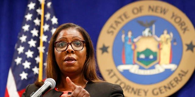 New York state Attorney General Letitia James is seen Aug. 6, 2020. (Associated Press)