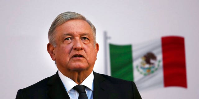 FILE: Mexican President Andrés Manuel López Obrador attends the commemoration of his second anniversary in office at the National Palace in Mexico City.