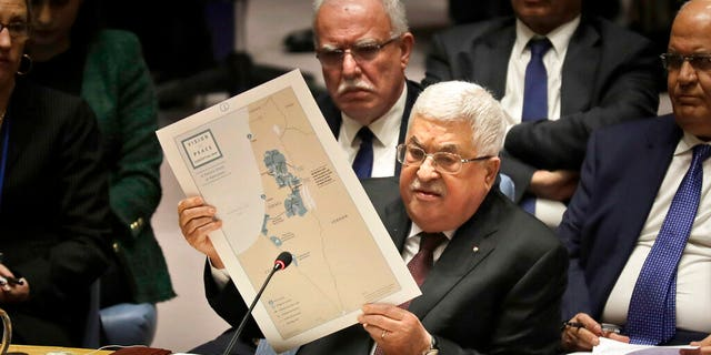FILE: Palestinian President Mahmoud Abbas speaks during a Security Council meeting at United Nations headquarters