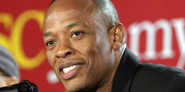 Dr. Dre is said to be home after his hospitalization for a possible brain aneurysm. (AP Photo/Damian Dovarganes)