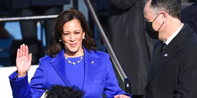 The Washington Post oddly removed an unflattering tidbit about Vice President Kamala Harris from a 2019 feature and republished a new version of the story. (Saul Loeb/Pool Photo via AP)