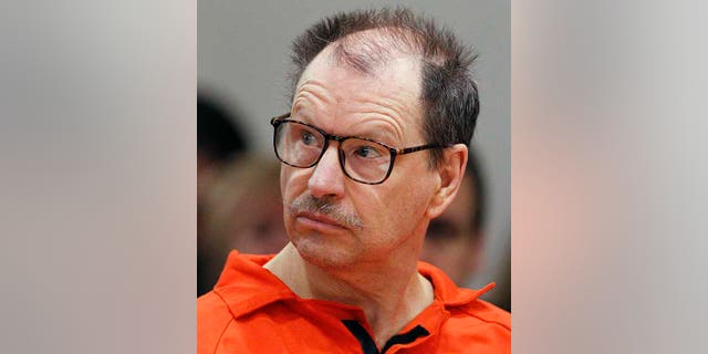 """In this Feb. 18, 2011, file photo, Green River Killer Gary Ridgway listens during his arraignment on charges of murder in the 1982 death of Rebecca """"Becky"""" Marrero at the King County Regional Justice Center in Kent., Wash. (AP Photo/Elaine Thompson, File)"""