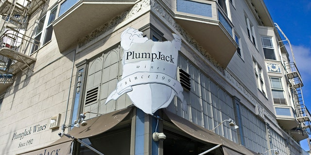 FILE - This Oct. 22, 2018, file photo shows the PlumpJack Wine & Spirits store in San Francisco.  (AP Photo/Eric Risberg, File)