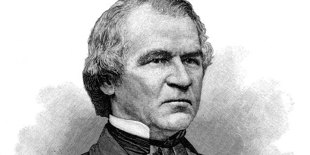 Engraving of the American President Andrew Johnson from 1890. (iStock)