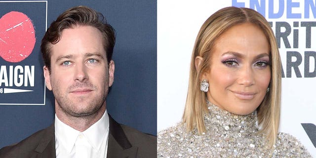 Armie Hammer (left) was set to star in 'Shotgun Wedding' alongside Jennifer Lopez, but Fox News has learned that the role will be recast.
