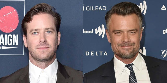 Armie Hammer (sinistra) will possibly be replaced by Josh Duhamel (destra) in the upcoming movie 'Shotgun Wedding' after exiting the picture amid his messaging scandal.