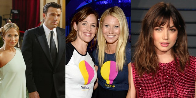Ben Affleck was romantically involved with several of his co-stars, such as Jennifer Lopez, Jennifer Garner, Gwyneth Paltrow and Ana de Armas.