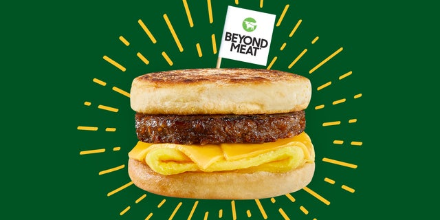Beyond Breakfast Sausage sandwich. (Beyond Meat).