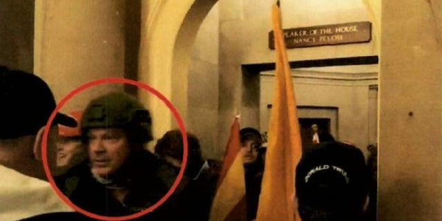 Larry Rendell Brock 53 seen outside the office of House Speaker Nancy Pelosi