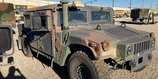 The armored military vehicle was stolen from the National Guard Armory in Bell, Calif., on Friday morning, federal authorities said.
