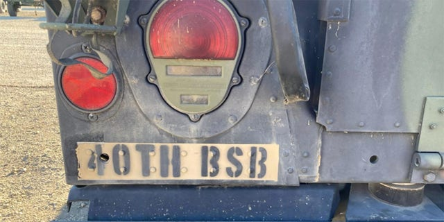 The Humvee's Battalion number, 40TH BSB, can also be seen on the vehicle.