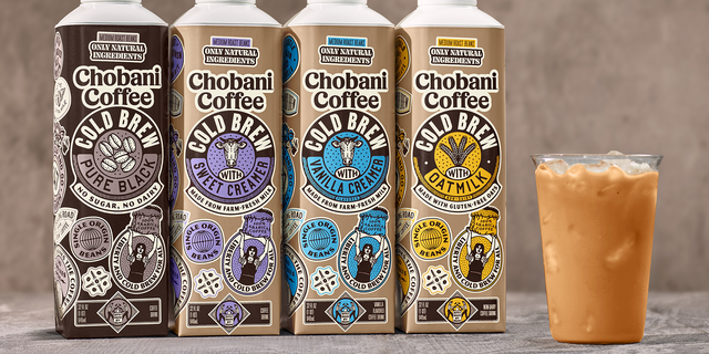 Chobani is launching four new cold brew coffee products. (Chobani).