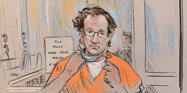 Courtroom sketch of Cleveland Meredith. (William Hennessy Jr./CourtroomArt.com)