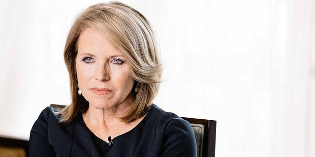 LOS ANGELES, CA - MAY 03: Katie Couric speaks during an interview promoting the EPIX Original Documentary 'Under The Gun' on May 3, 2016 in Los Angeles, California. (Photo by Mike Windle/Getty Images For EPIX)