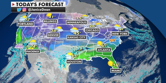 Weather graphic for Jan. 19, 2021.