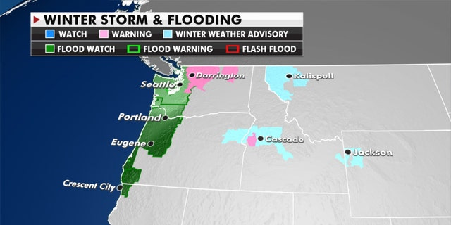 Flood watches and warnings, Jan. 12, 2021.