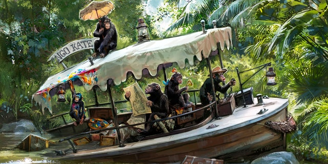 An illustration published by Disney Parks Blog of a new scene in the works at the Jungle Cruise ride.
