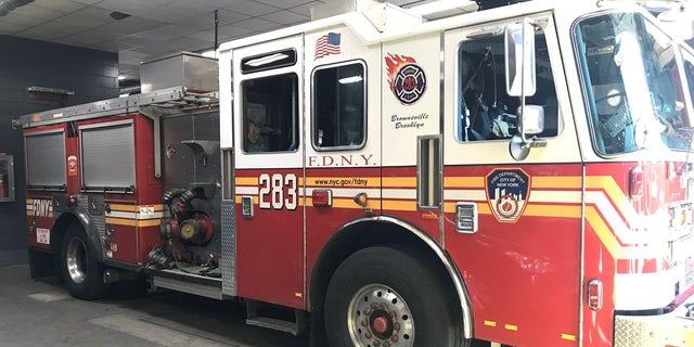 An FDNY fire truck in Brooklyn.