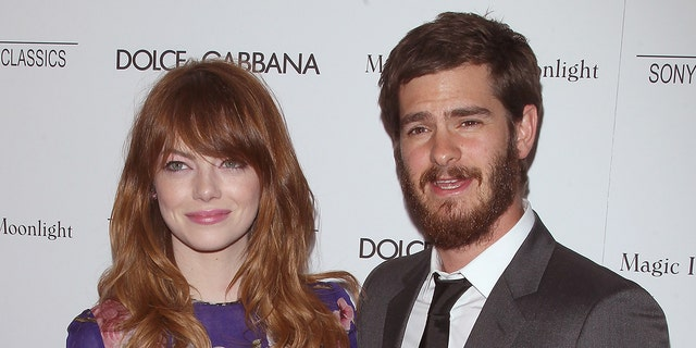 Emma Stone and Andrew Garfield met on the set of 'The Amazing Spider-Man.' (Photo by Jim Spellman/WireImage)