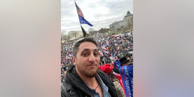 Samuel Fisher, 35, was arrested Wednesday for his alleged role in the deadly Jan. 6 riot inside the U.S. Capitol.