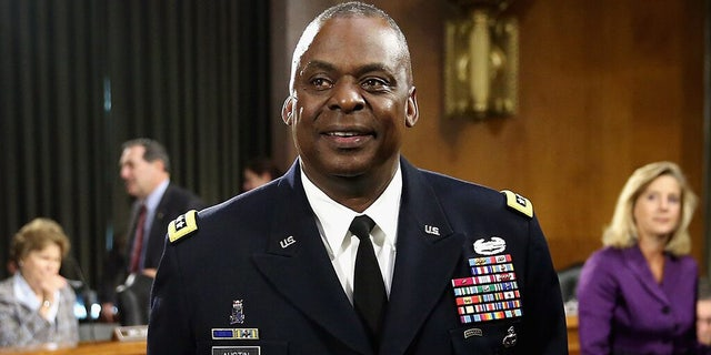 Gen. Lloyd Austin III, then-commander of U.S. Central Command, prepares to testify before the Senate Armed Services Committee about the ongoing U.S. military operations to counter the Islamic State in 2015 in Washington, D.C. (Getty Images)