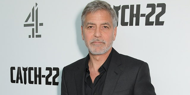 George Clooney reportedly was in Sardinia filming a television miniseries adapted from Joseph Heller's World War II novel 'Catch-22.'