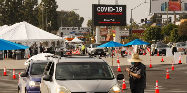 California's distribution plan for the COVID-19 vaccine has widely been criticized for its slow rollout. (Al Seib / Los Angeles Times via Getty Images)