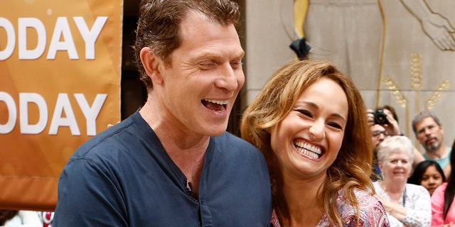 Bobby Flay and Giada de Laurentiis are the stars of a new show on Discovery+, which follows them as they travel through Rome and Tuscany. (Photo by: Peter Kramer/NBC/NBC Newswire/NBCUniversal via Getty Images)
